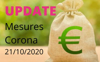Update Mesures Corona 21/10/2020