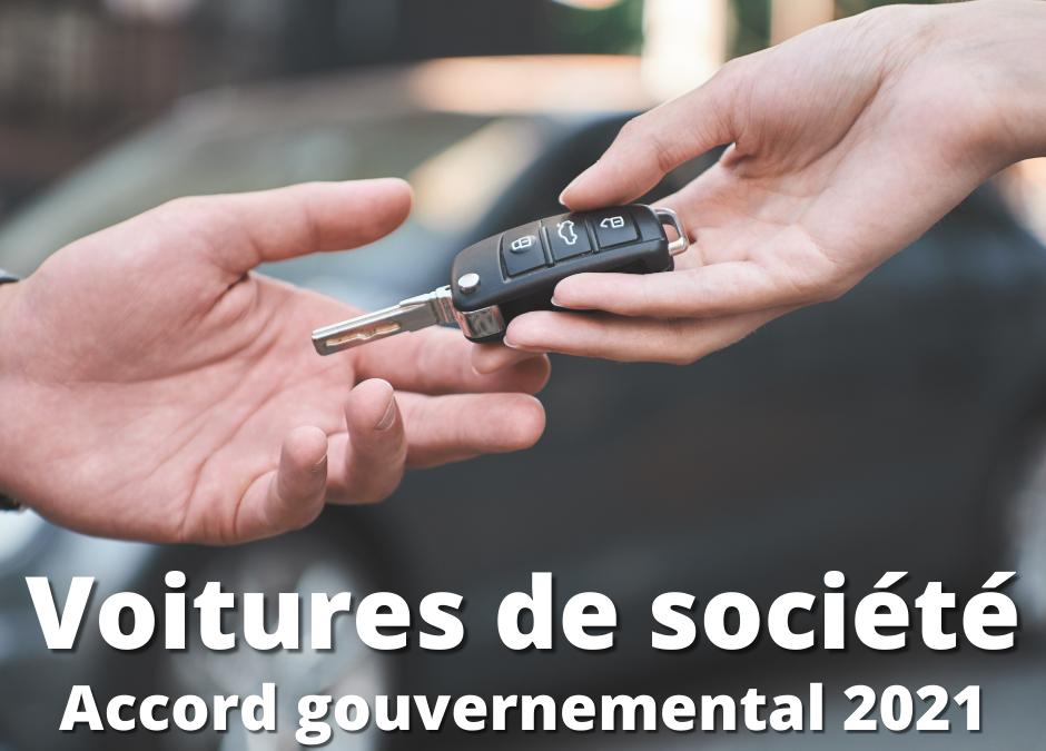 Voitures de société : résumé de l'accord gouvernemental